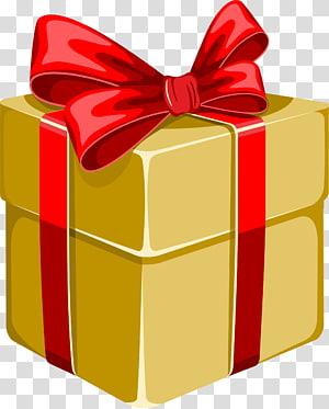 Kotak Hadiah Gratis, Kotak Hadiah Busur Kuning png