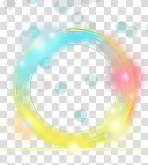 Light Yellow Euclidean, elemen efek lingkaran cahaya kuning sederhana, bulat kuning, biru, dan oranye png
