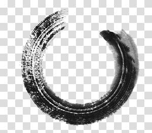 skala abu-abu c logo, Inkstick Circle Painting, sapuan kuas tinta png