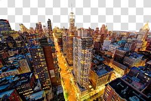 ilustrasi bangunan kota pada malam hari, resolusi tampilan komputer Manhattan Macintosh Desktop, Empire State Building di New York night png