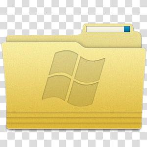 bahan persegi panjang kuning, Folder Folder Windows, komputer ilustrasi folder file Windows png