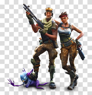 ilustrasi prajurit pria dan wanita, T-shirt Video game Fortnite Battle Royale, T-shirt PNG clipart