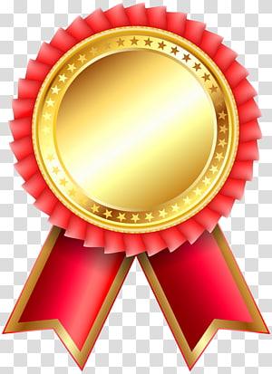 dekorasi emas dan merah, Medal Diagram, Red Award Rosette Clipar png