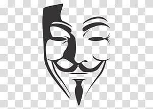 Ilustrasi topeng Guy Fawkes, V for Vendetta, topeng anonim png