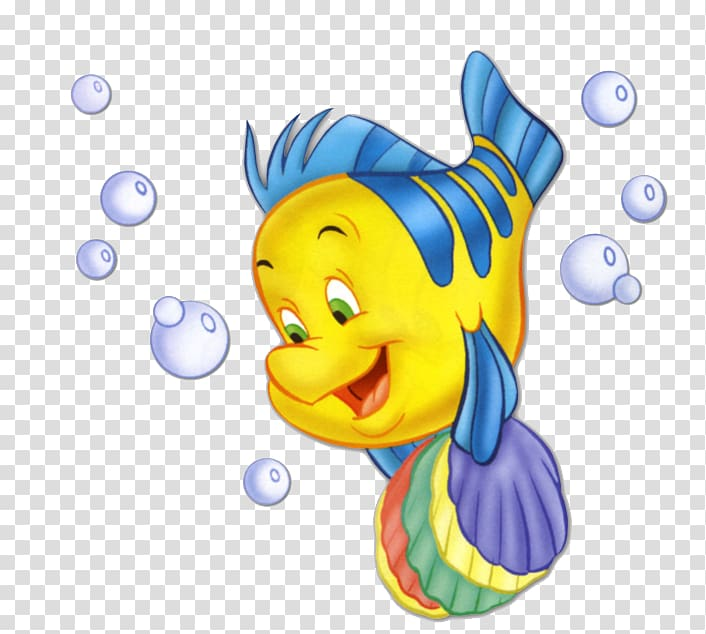 Flounder dari Little Mermaid, Ariel Flounder Sebastian Rapunzel, Mermaid png