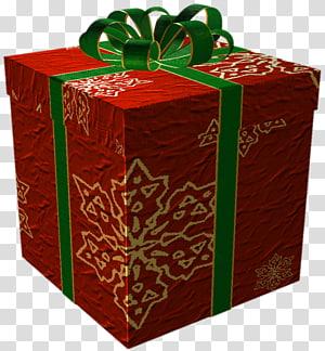 kotak hadiah merah dan hijau, hadiah Natal hadiah Natal, Merah dan Emas Hadir dengan Green Bow png