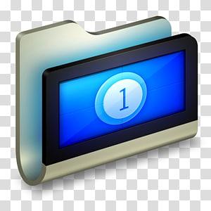 ilustrasi seni digital pad hitam dan biru, perangkat keras perangkat layar multimedia, Folder Film png