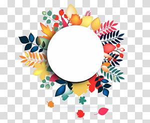 , Bingkai bunga cat air yang dilukis dengan tangan, permukaan putih bulat dikelilingi oleh bunga png