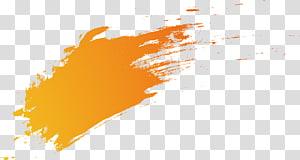 Kuas gradien oranye, cat oranye PNG clipart