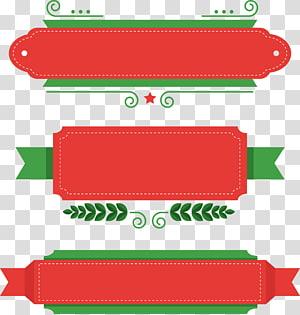 ilustrasi panel grafis merah dan hijau, Hari Natal Santa Claus Boxing, kotak judul tema Natal PNG clipart