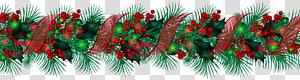 ilustrasi garland hijau, dekorasi Natal Garland, Christmas Large Garland PNG clipart