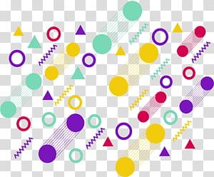 ilustrasi bentuk kuning, hijau, dan ungu, geometri bentuk geometri euclidean, penutup grafis geometris berwarna-warni PNG clipart