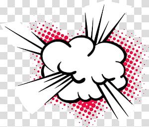 awan putih, Kartun Ledakan, ledakan komik awan png