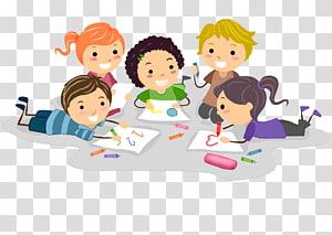 lima anak menulis ilustrasi, Gambar Anak-anak, anak-anak PNG clipart