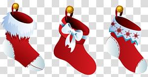 tiga ilustrasi kaus kaki merah Natal, Natal, Tiga Natal png