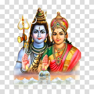 Dewa Siwa dan Hanuman, Parvati Siwa Ganesha Shakti Lingam, Siwa png