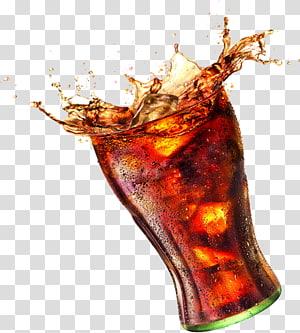 Minuman ringan Coca-Cola Juice Milkshake, Coke, gelas minum bening yang diisi dengan ilustrasi minuman PNG clipart