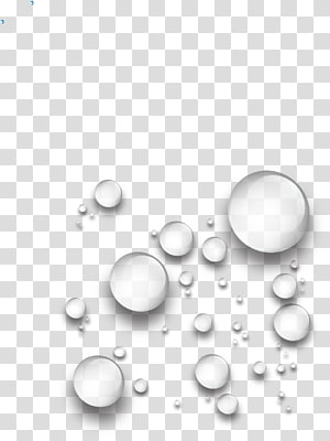 Tetes Air, tetesan air tetesan halus, seni gelembung putih png
