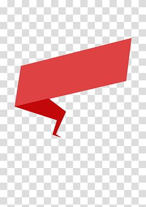 Pita kertas Origami, pita merah Origami, ilustrasi merah png