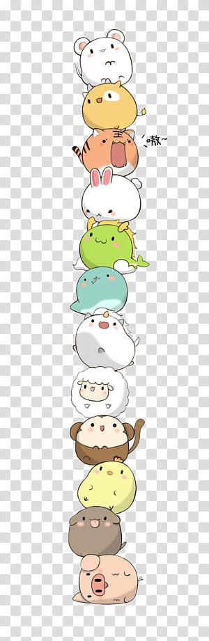 Gambar zodiak Cina, 12, gambar kartun zodiak, tumpukan ilustrasi hewan png