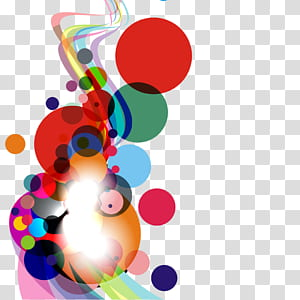 Kurva Lingkaran, Latar belakang abstrak bundar dan kurva berwarna-warni, ilustrasi polka-dot merah dan beraneka warna png