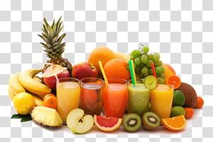 berbagai macam buah-buahan dan jus, jus jeruk, Cocktail Juicer buah, jus buah png
