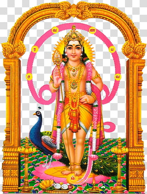 Ilustrasi Dewa Hindu, Om Saravana Bhava Shiva Kartikeya Ganesha, Murugan png
