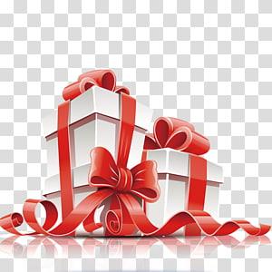 kotak hadiah putih dan merah, Kotak kartu hadiah, hadiah png