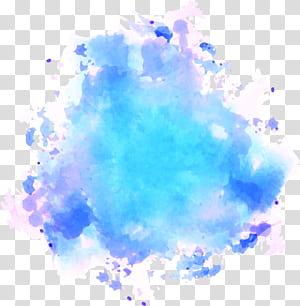 Pinkpop Festival Lukisan cat air Tekstur, Graffiti cat air langit biru, ilustrasi abstrak png