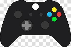 ilustrasi pengendali permainan hitam, Joystick Xbox 360 Game Controllers Permainan video, gamepad png