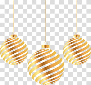 3 coklat ilustrasi pernak-pernik Natal, bola Natal Emas, Natal Tahun Baru png