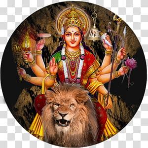 Dewa Hindu, Singa Siwa Durga Puja Ganesha, Durga Maa png