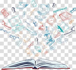 Paper Text Illustration, Latar belakang pengetahuan dalam buku, halaman buku merah yang dianimasikan png
