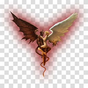 ilustrasi iblis dan malaikat, Setan Bahu malaikat Setan Lucifer, iblis png