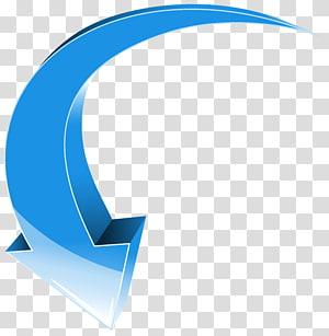 panah biru, panah, panah biru ke bawah PNG clipart