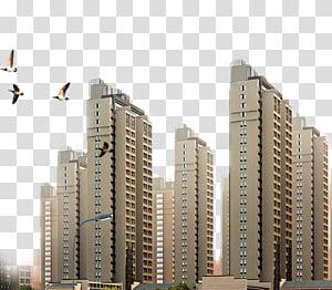 bangunan beton abu-abu, Arsitektur Siluet Bangunan Kota, bangunan kota PNG clipart