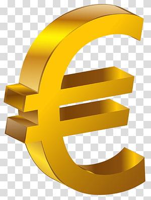 Tanda Euro, Euro Emas, ilustrasi tanda uang png