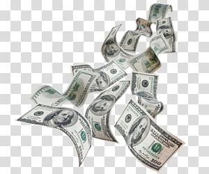 Uang kertas 100 dolar AS, Uang Kertas Dolar Amerika Serikat, Dolar Terbang png