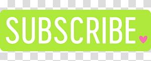 berlangganan teks dengan latar belakang hijau, Tombol YouTube, Berlangganan png