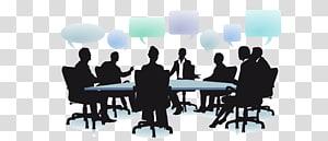 sekelompok orang duduk ilustrasi, Dialog sosial Organisasi Manajemen Bisnis, pertemuan orang-orang Bisnis siluet PNG clipart