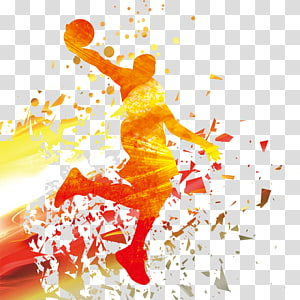 latar belakang pemain basket, NBA Basketball, siluet pemain Basket png