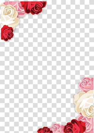 ilustrasi aneka warna mawar, Undangan pernikahan Beach rose Euclidean, Undangan elemen Dekoratif png