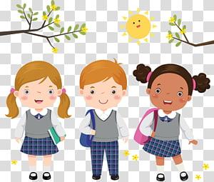 anak sekolah, Seragam sekolah Siswa Anak, Anak-anak memakai seragam png