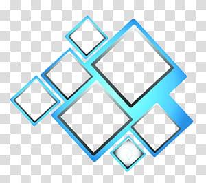 ilustrasi bentuk geometris, Kotak Biru, Kotak biru png