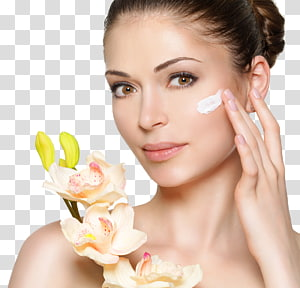 wajah wanita, Lotion Cosmetics Face Cream Beauty, Rias kecantikan dan bunga PNG clipart