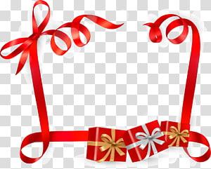 ilustrasi kotak hadiah merah, Pita kartu hadiah Euclidean, Pita batas hadiah png