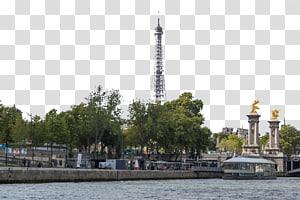 Menara Eiffel Seine Landscape u540du52dd, Paris Seine River View png