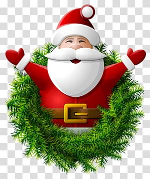 Ilustrasi Santa Claus, Santa Claus Wreath png