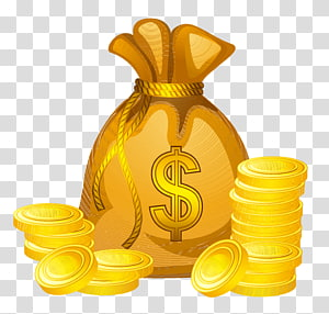 Money Papua, Guinea Baru, Konverter mata uang tunai, Tas Uang, koin bundar berwarna emas dengan ilustrasi kantong png