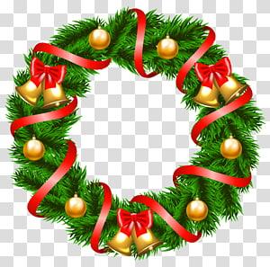 ilustrasi karangan bunga hijau, dekorasi Natal Karangan Bunga, Dekorasi Karangan Bunga Natal png